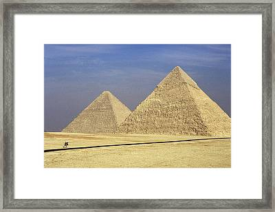 Pyramids At Giza Framed Print