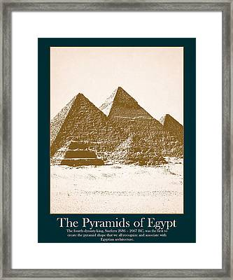 Pyramids Of Egypt Framed Print