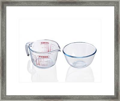 Pyrex Jug And Bowl Framed Print by Spl