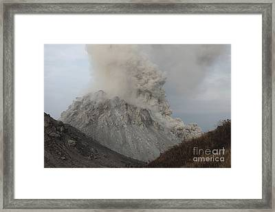 Pyroclastic Flow Descending Flank Framed Print by Richard Roscoe