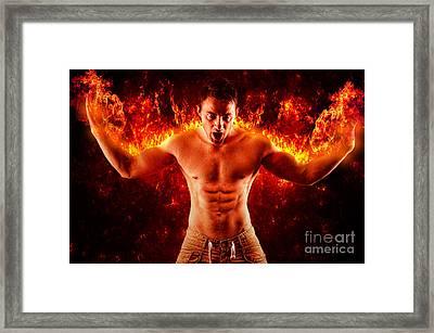 Pyromaniac Framed Print by Yhun Suarez