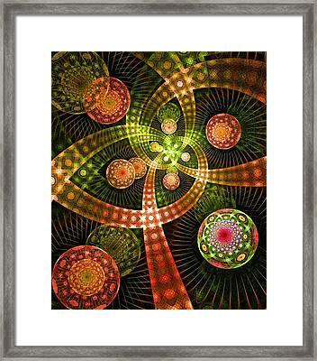 Pyrotechnics Framed Print by Anastasiya Malakhova