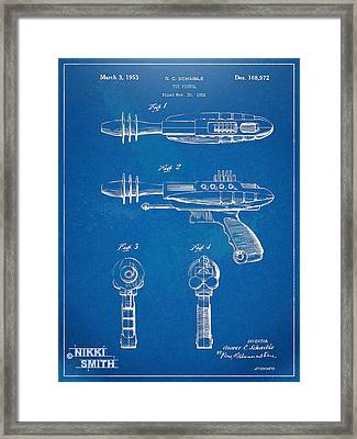 Pyrotomic Disintegrator Pistol Patent Framed Print by Nikki Marie Smith