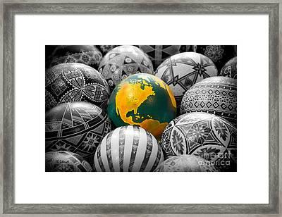 Pysanky World Framed Print