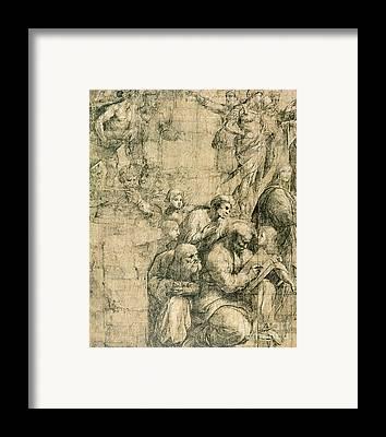 Greek School Of Drawings Framed Prints