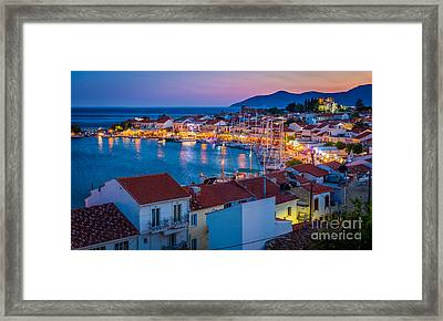 Pythagoreio Evening Framed Print by Inge Johnsson