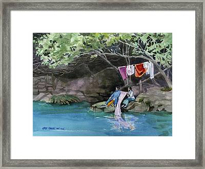 Laundry Day Framed Print by Kris Parins