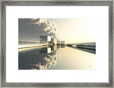 Q-city Four Framed Print by Max Steinwald
