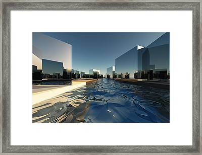 Q-city Two Framed Print by Max Steinwald