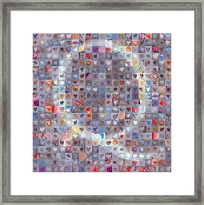 Q In Confetti Framed Print