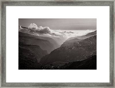 Qadicha Valley In The Spring Framed Print by Tarek Charara