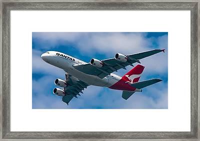 Qantas A380 Framed Print