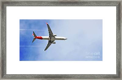 Qantas In Flight Framed Print