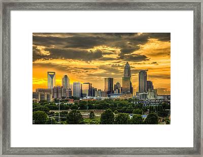 Qc Sunset Framed Print