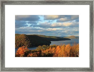 Quabbin Reservoir Foliage View Framed Print