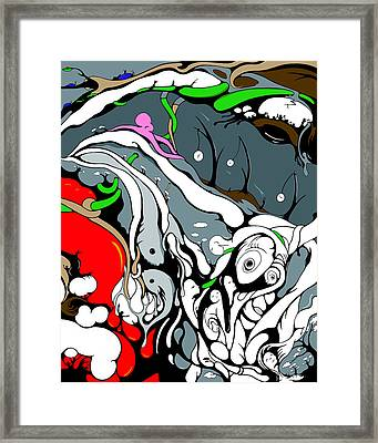 Quad Tidal Of Generations 4 Vines Framed Print