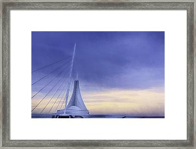 Quadracci Pavilion Sunrise Framed Print by Scott Norris