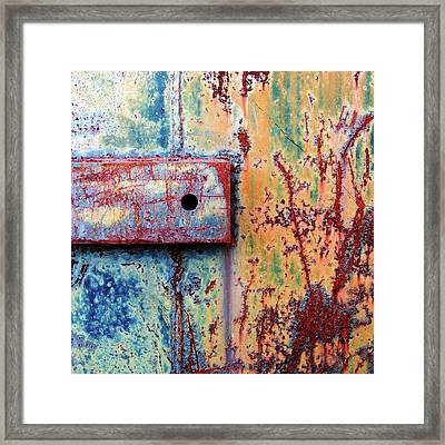 Quadrate...raw Steel Framed Print
