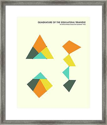 Quadrature Of The Triangle Framed Print