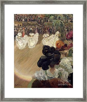Quadrille At The Bal Tabarin Framed Print by Abel-Truchet