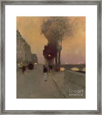 Quai Bourbon, Paris Framed Print by Luigi Loir