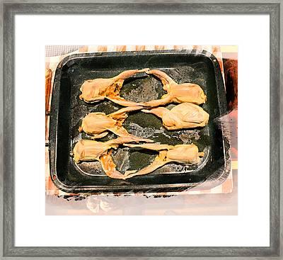 Quail Family Butchery Framed Print