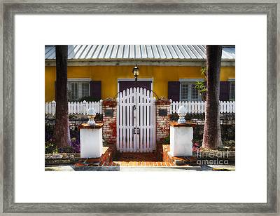 Quaint Colonial House In Charlotte Amalie Framed Print