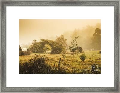 Quaint Countryside Scene Of Glen Huon Framed Print by Jorgo Photography - Wall Art Gallery