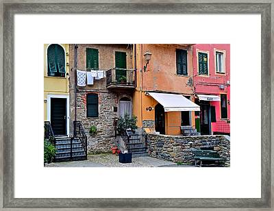 Quaint Italian Town Framed Print