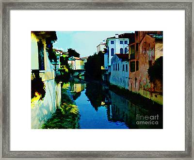 Framed Print featuring the photograph Quaint On The Canal by Roberta Byram