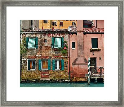 Quaint Venetian Home Framed Print by Frozen in Time Fine Art Photography