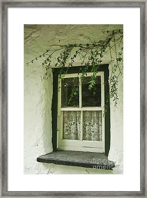 Framed Print featuring the photograph Quaint Window In Ireland by Christine Amstutz