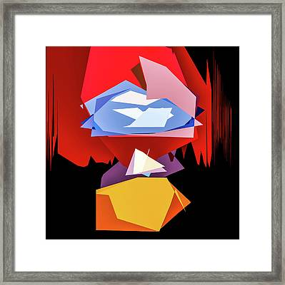 Quaker Color Abstract Framed Print by Michael Arend