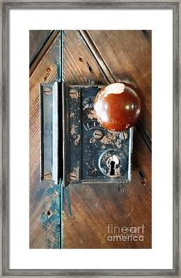 Quaker Door Knob Framed Print