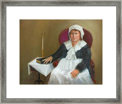 Quaker Lady Framed Print by Marjorie Harris