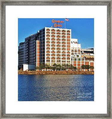 Quaker Oats First Building Framed Print