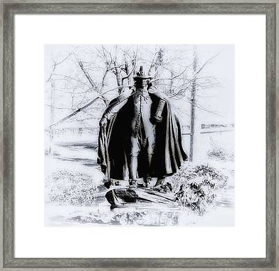 Quaker Pilgrim Framed Print