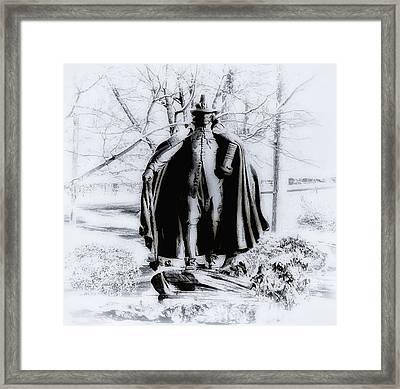 Quaker Pilgrim Framed Print by Bill Cannon