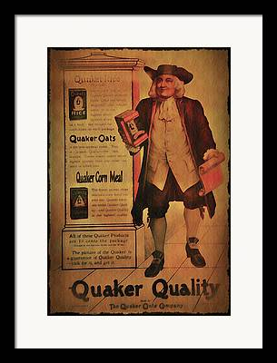 Quaker Oats Framed Prints