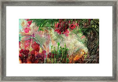 Framed Print featuring the digital art Qualia's Jungle by Russell Kightley