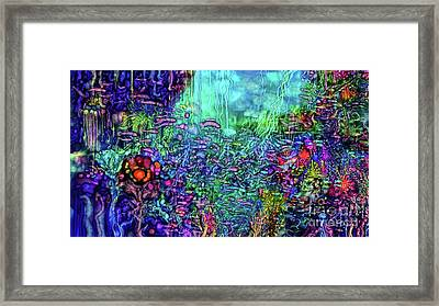 Framed Print featuring the digital art Qualia's Reef by Russell Kightley