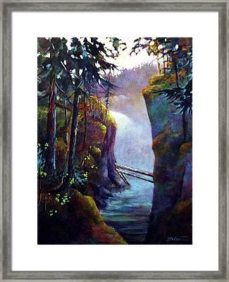Qualicum Falls Framed Print