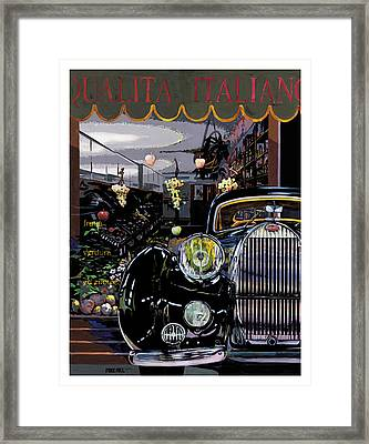 Qualita Italiano Framed Print by Mike Hill