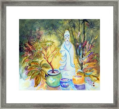 Quan Yin Garden Framed Print