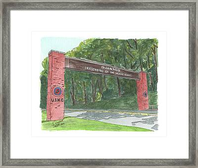 Quantico Welcome Framed Print