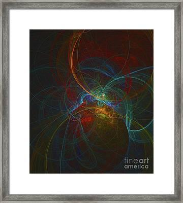 Quantum Cartography Framed Print