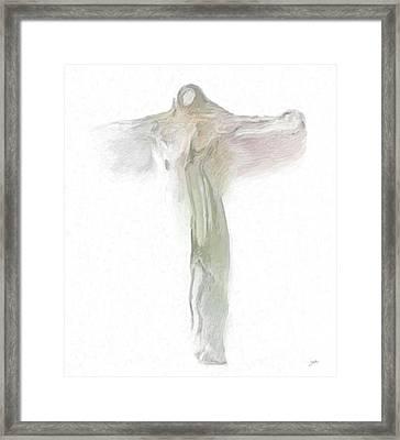 Quantum Christ Framed Print by Joaquin Abella