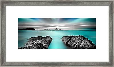 Quantum Divide Panorama Framed Print