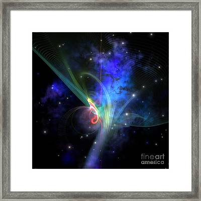 Quantum Filament Framed Print by Corey Ford