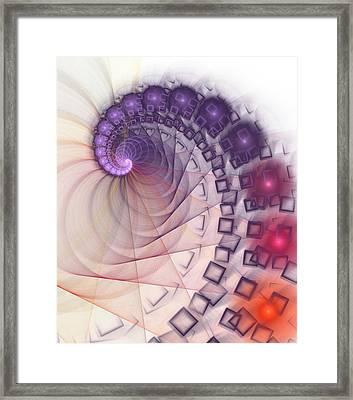 Framed Print featuring the digital art Quantum Gravity by Anastasiya Malakhova